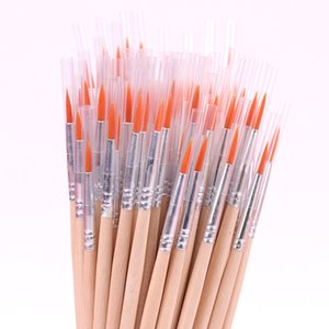 100PCS / paquete fino pintado a mano gancho Thin Line Pluma de la acuarela de bricolaje del pelo de nylon Pintura Suministros de cepillo del arte