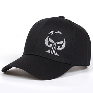 2018 new Old Playing Card Ace of Spades Cap skull Skull Sniper Hat Embroidered Black Baseball Cap Hats Men Women golf Caps