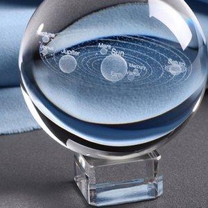 3D Миниатюрный Planets модель Sphere стекла глобус Украшение 6CM лазерной гравировкой Солнечной системы BallHome Декор подарков для Astrophile