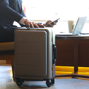 20''24 Inç Vintage İş PC Bagaj Maletas Haddeleme Kabin Seyahat Çantası Arabası Bavul 4 Tekerlekler Bilgisayar Çantası Depolama Pa ...