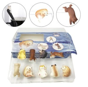 Coppa Animal Hanging PVC di protezione dell'ambiente simulato Animal Doll bordo Coppa Hanging Toy uovo in scatola di colore Set