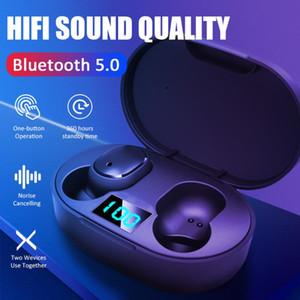 E6S TWS Kablosuz Kulaklık için redmi Airdots Kulaklık LED Ekran Bluetooth 5.0 Kulaklık ile Mikrofon IPhone Huawei Samsung