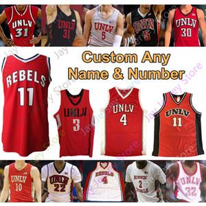 Costume 2020 rebeldes UNLV Basketball Jersey NCAA Faculdade Larry 4 Johnson Shawn Marion 31 Lamar Odom 5 34 Rider 23 Reggie Theus Amauri Hardy