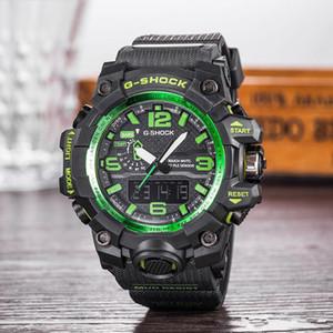 LED Mens de la manera impermeable G militares del estilo Relojes de cuarzo digital multifunción choque relojes deportivos masculino estudiantes Reloj Montres Homme