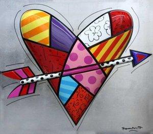 Romero Britto pegada amor Obras Decoración Artesanías / impresión de HD pintura al óleo sobre lienzo de arte cuadro de la pared 200512