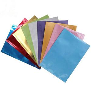 لون الألومنيوم احباط كيس الحرارة ختم مفتوحة أعلى الحقيبتين الجانب الملونة حقيبة التعبئة والتغليف البلاستيكية رائحة الحقائب والدليل