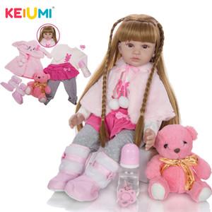 Großhandel 60CM Newborn Silikon Menina Reborn Baby Doll Cute Panda Cartoon Bebê Kindertags-Geschenke