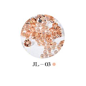 Nail joyería del clavo de Cuentas Elf pegajosa Taladros Taladro fondo transparente Botella Rhinestone Beads Micro