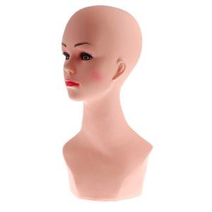 Женский Манекен Манекен Head Bust Модель парик очки Hat шарф стойки дисплея