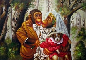 MonkeyWedding Home Decor Handpainted &HD Print Oil Painting On Canvas Wall Art Canvas Large Pictures 191124