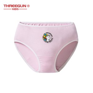 THRÉGUN X Tuzki crianças Kid Girls cotton Underwear Toddler Girls Cuecas Para Adolescentes Cuecas Lingerie 4pcs / Lot