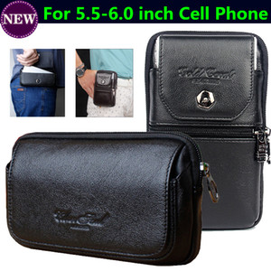 For DOOGEE S60 Case Leather Belt Hook Loop Holster Waist Pouch Outdoor Phone Bag For AGM A8 S30 For Ulefone Armor 2 S60 Lite