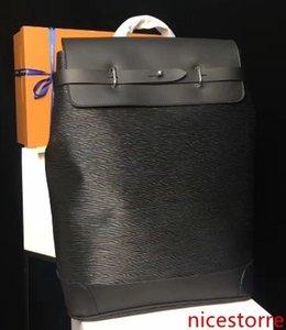 colore del fiore nero nuovissimo Zaini Mens zaino VAPORE vera pelle di qualità del hight progettista M43296 borse hobo 45 * 32 * 16 centimetri