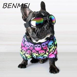 Çevre Dostu İlkbahar Yaz Köpek Baskı Kafatası Desen Renkli Yelek Köpek Pamuk Gömlek Yavru Moda Pet Köpek Tank Top Giyim