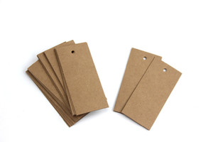 Blank kraft paper tag spot blank card 350G Price sign label trademark garment Tag merchandise retailing price talker Multi-sizes