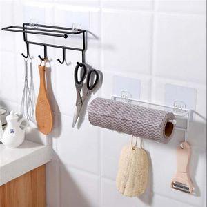 1 / 2pc Strong Transparent Saugnapf Wand 4 Haken Handtuch Badezimmer Küche Kleiderbügel hängend Drill-Free Küchen Rack-Hooks 40AP17