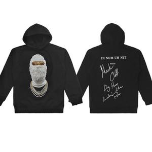 Ih Nom Uh Nit Perle Homme Imprimé 18ss Hommes Casual Designer Hoodies Sweats À Capuche Mâle Femelle Hip Hop Pull