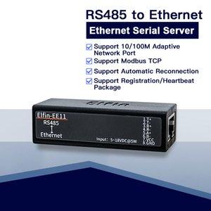 servidor de série EE11 MINI RS485 para Ethernet ModbusTCP serial para Ethernet RJ45 conversor com servidor da Web incorporado