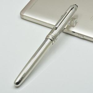 Продвижение 163 Ag925 Серебряная шариковая ручка / Роликовая шариковая ручка / авторучка офисные канцелярские принадлежности каллиграфия чернильные ручки для рождественских подарков