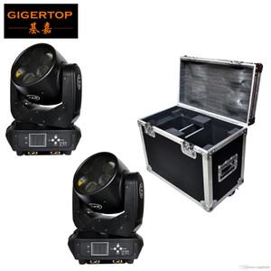 2EN1 Route Case Pack 6x25W Sharpy faisceau Led Moving Head Light Rotation lentille en verre DMX DJ Moving Head Light RGBW silencieux de travail