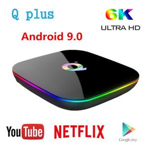 صندوق TV Q زائد الذكية الروبوت 9.0 TV صندوق 4GB رام 32GB 64GB روم 6K H.265 USB3.0 نيتفليكس ALLWINNER H6 PK T95 s905x3 تعيين كبار مربع