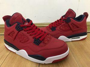 2019 air jordans retro 4 SE FIBA Mens scarpe da basket di alta qualità di marca 4s designer sneakers Gym rosso CI1184-617 dimensioni US7.5-13 con scatola