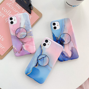 Fashion Marble Bracket Phone Case for iPhone 11 Pro XS MAX XR X 8 7 6S Plus Soft TPU phone cases