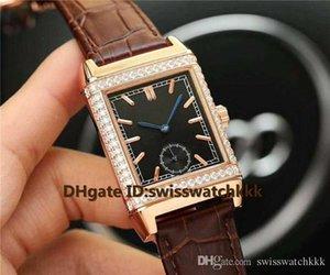 2019 горячая продажа Q2788520 мужские часы швейцарский автоматический 28800VPH сапфировое бриллиантовый безель розовое золото корпус телячья кожа ремешок мужские часы