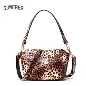 SUWERER New Women leather shoulder crossbody bags luxury handbags women bags designer cowhide leather shoulder bag