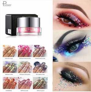 Pudaier Eyeshadow Diamond Pearlescent Lentejuelas Pigmento Glitter Eyeshadow 34 Color Metallic Powder Eyes Shadow Palette Maquillaje Nail Art