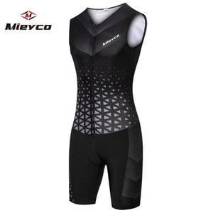 Mieyco Uomini Ciclismo Skinsuit Triathlon Speedsuit Trisuit All Out Speedsuit maniche Abbigliamento