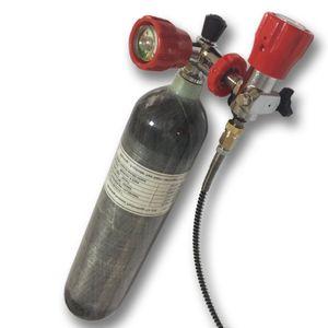 Acecare 2L PCP Paintball tanque de fibra de carbono 4500psi cilindro de mergulho Station ValveFilling Com Para alvos de tiro / caça Airsoft / Rifle