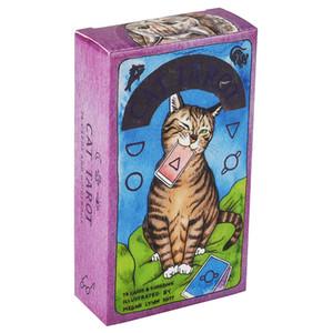 Cat Tarot 78 carte Con Guida capriccioso e umoristico mazzo di tarocchi Stocking Stuffer per Kitten amanti Divinazione Board Game