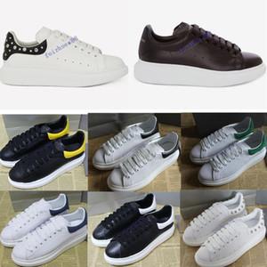 2019 melhor designer de luxo qualidade de sapatilha de grandes dimensões para o homem mulheres de couro reais refective sapatos de grife Moda Casual tênis italiano