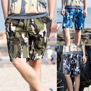 Мужские повседневные быстросохнущие купальники талия пляжный принт шорты багажник брюки с карманами