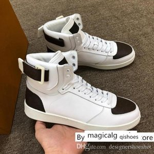 Mens High Top Rivoli Sneakers Boots Speed Trainer Designer Shoes Classic Printed Casual Leather Canvas Rubber Sneaker L17