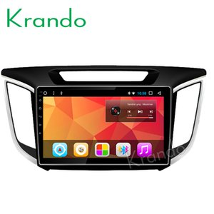 "Krando Android 8.1 10.1 ""IPS HYUNDAI IX25 için Tam dokunmatik araba Multimedya sistemi / CRETA 2014 ses çalar gps navigasyon sistemi araba dvd"