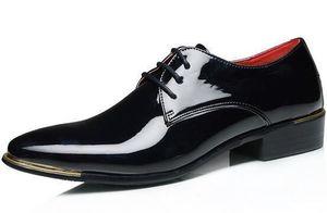 Herren Formelle Schuhe Große Größe 48 47 45 Lackleder White Wedding Schuhe Male Lace-Up Derby Wohnungen Herren Business Schuhe