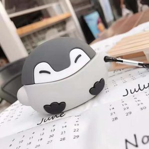 Cartoon lovely penguin baby Airpods pro protective cover Apple Bluetooth headset 1 2 3 generation silicone soft cover
