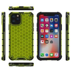 Slim Honeycomb Case para Iphone 11 NUEVO IX R XR XS MAX X 8 7 6 Anti Scratch 360 Degree Full Body PC + TPU Armor Phone Hybrid Transparent Covers