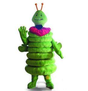 2019 Высокого качества Green Caterpillar Worm костюм талисман Fancy платье партия Хэллоуина костюмы Карнавалы
