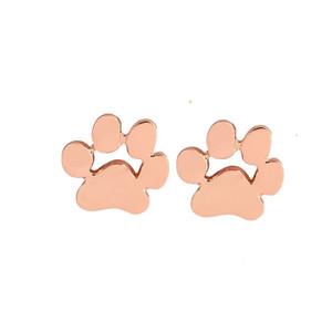Симпатичные Paw Puppy Dog Cat Стад Серьги для Женщин Подростка Серьги Post Girls Хорошие Подарки Гипоаллергенные серьги