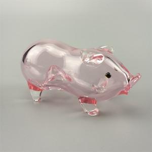 pipes cuillère verre pipes verre fait main pipe à eau en verre pour fumer cochon rose mini-tube
