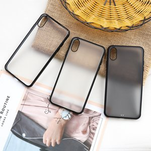 Frosted Effects Phone Case For iPhone 7 8 X HD TPU Cell Phone Cover Transparent Phone Cover