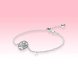 Sparkling Family Tree Slider Bracelet Women Girls Party Jewelry for Pandora 925 Sterling Silver Adjustable size Bracelets with Original box