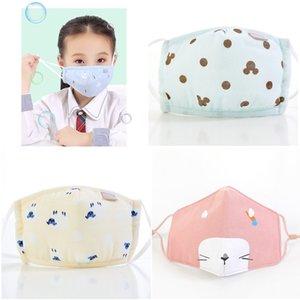 colore più bambini antiappannamento maschera maschere maschere del fumetto dei capretti Bocca Viso Anti-polveri respirabili Earloop riutilizzabile lavabile in cotone