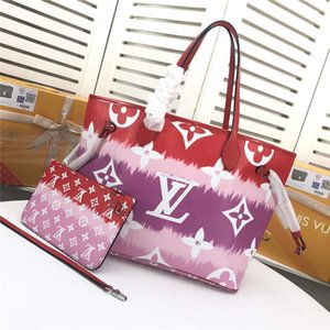 LoVuitto designer Bucket Petit HINA Escale Onthego GM Tote Bag M45121 red Pink Purple MonogramSize:31x 28.5 x 17 cm