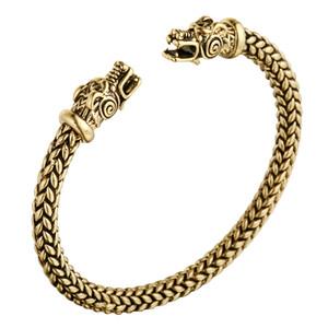Huilin مجوهرات فايكنغ التنين الصلبة النحاس كم سوار الرجال سوار المرأة