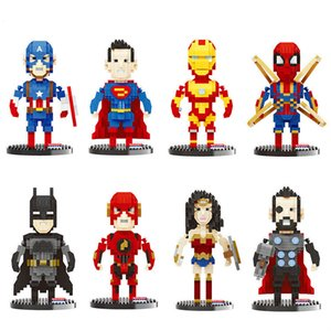 Children's Creative Puzzle Assembled Building Block Toy Hero Cartoon Character Series