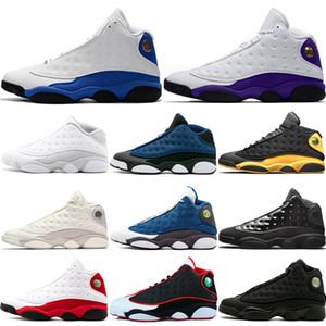 Lakers de venta principales rivales 13s hombres zapatos de baloncesto Diseñador Chicago Atmósfera Gris Negro Chicago DMP gato zapatos zapatilla de deporte entrenadores deportivos